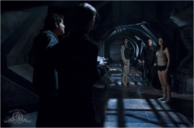Stargate Universe : Photo David Blue, Jamil Walker Smith, Julia Benson, Louis Ferreira