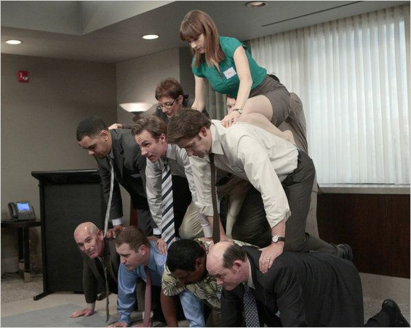 The Office (US) : photo David Koechner, Ellie Kemper, John Krasinski