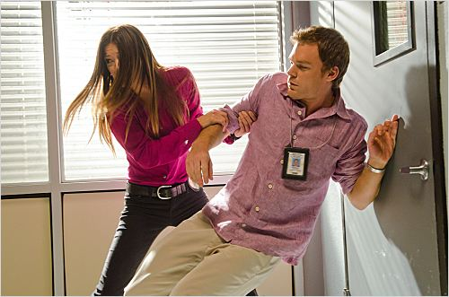 Dexter : photo Jennifer Carpenter, Michael C. Hall