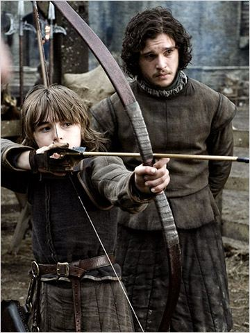 Game of Thrones : Photo Isaac Hempstead-Wright, Kit Harington
