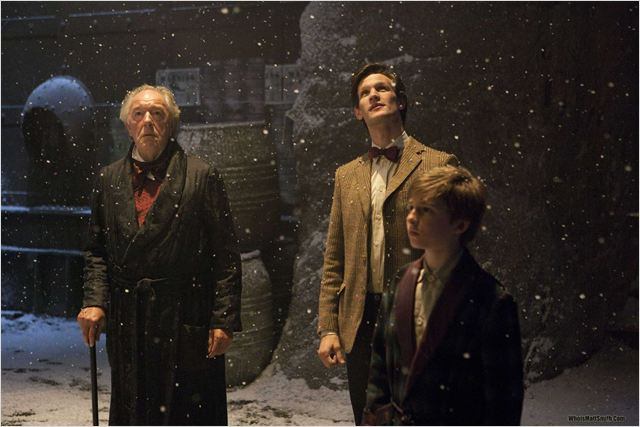 Doctor Who (2005) : photo Laurence Belcher, Matt Smith (IV), Michael Gambon