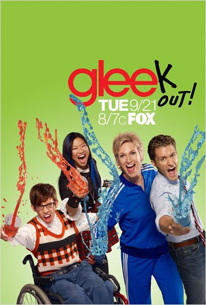 Glee : Photo Jane Lynch, Jenna Ushkowitz, Kevin McHale, Matthew Morrison