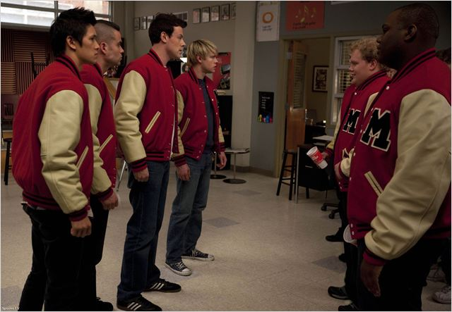 Glee : Photo Chord Overstreet, Cory Monteith, Harry Shum Jr., Mark Salling