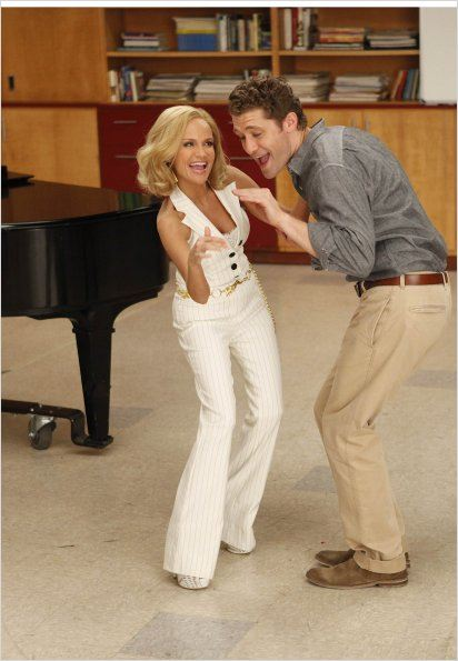 Glee : photo Kristin Chenoweth, Matthew Morrison