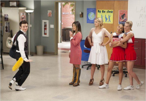 Photo Chris Colfer, Dianna Agron, Heather Morris, Jenna Ushkowitz, Naya Rivera