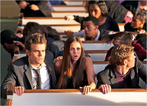 Vampire Diaries : photo Nina Dobrev, Paul Wesley, Zach Roerig