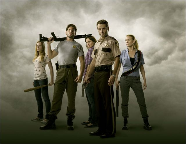 The Walking Dead : Photo Andrew Lincoln, Emma Bell, Jon Bernthal, Laurie Holden, Sarah Wayne Callies