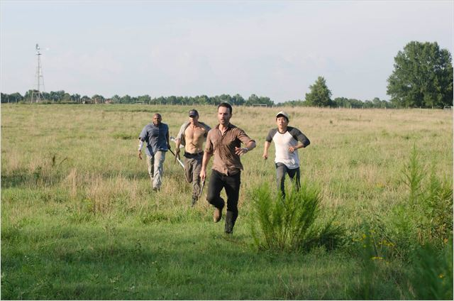 Photo Andrew Lincoln, IronE Singleton, Jon Bernthal, Steven Yeun