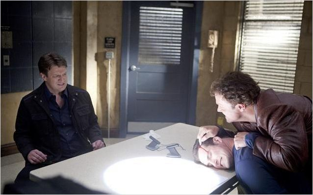 Castle : photo Adam Baldwin, Nathan Fillion, Stefan Niemczyk