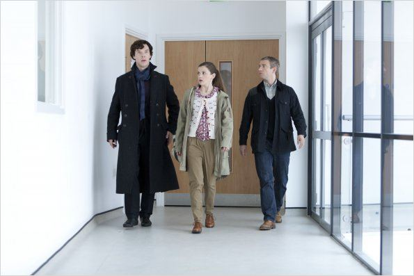 Photo Benedict Cumberbatch, Loo Brealey, Martin Freeman
