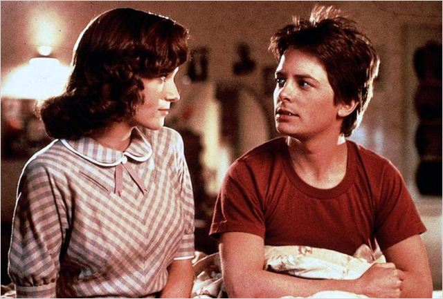 Retour vers le futur : photo Lea Thompson, Michael J. Fox, Robert Zemeckis