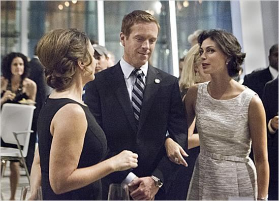 Homeland : photo Damian Lewis, Morena Baccarin