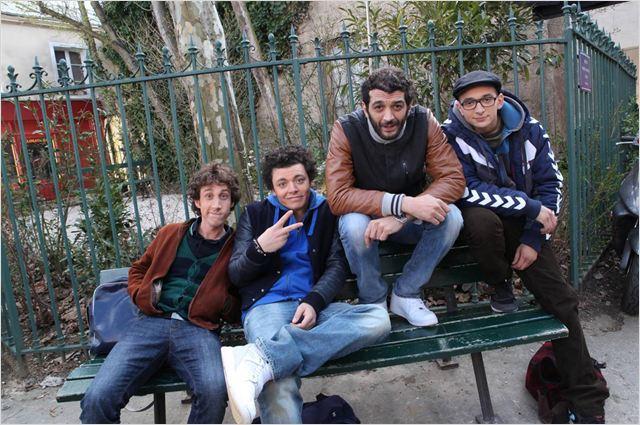 Photo Gaël Cottat, Kev Adams, Ramzy Bedia, William Lebghil