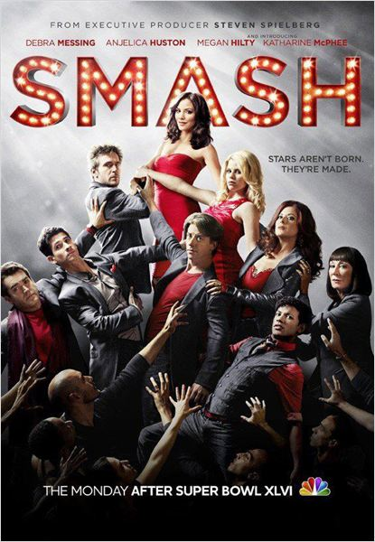 Smash : Photo Anjelica Huston, Brian d'Arcy James, Christian Borle, Debra Messing, Jack Davenport