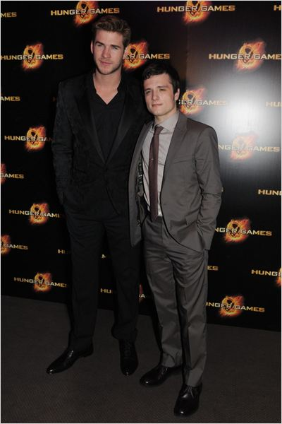 Hunger Games : photo Gary Ross, Josh Hutcherson, Liam Hemsworth