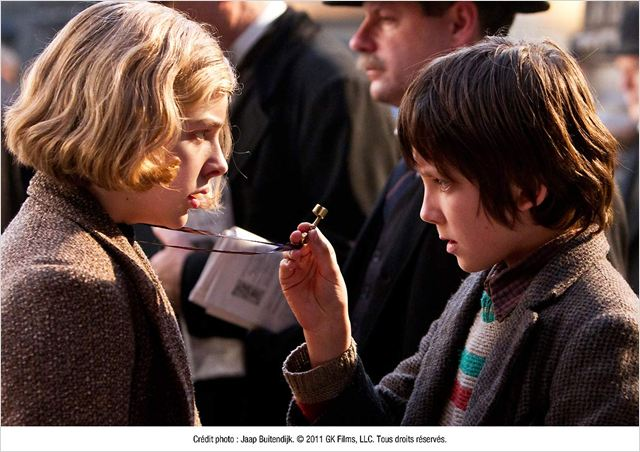 Hugo Cabret : photo Asa Butterfield, Chloë Grace Moretz, Martin Scorsese