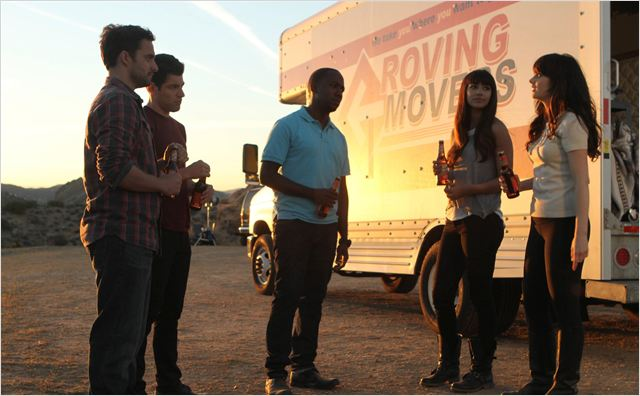 Photo Hannah Simone, Jake Johnson, Lamorne Morris, Max Greenfield, Zooey Deschanel