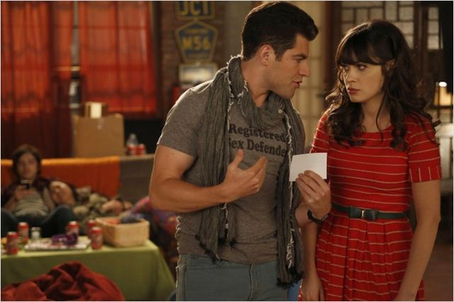 New Girl : photo Max Greenfield, Zooey Deschanel