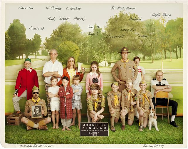 Moonrise Kingdom : photo Bill Murray, Bob Balaban, Bruce Willis, Edward Norton, Frances McDormand