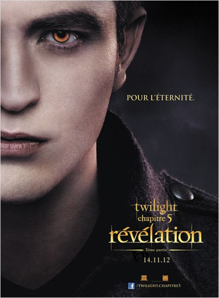 Twilight - Chapitre 5 : Révélation 2e partie : affiche Bill Condon, Robert Pattinson, Stephenie Meyer