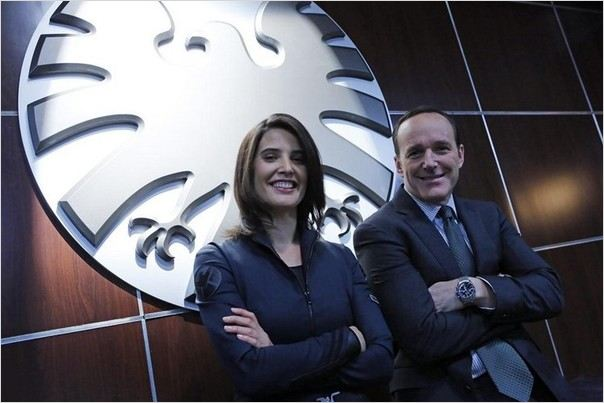 Photo Clark Gregg, Cobie Smulders