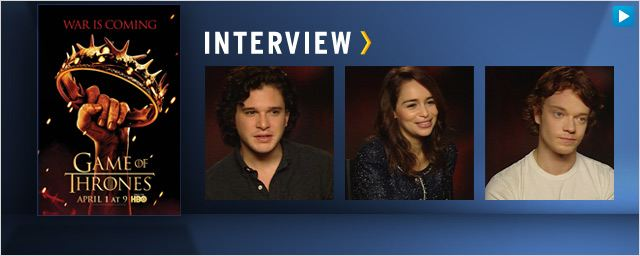"Interview : les acteurs de ""Game of Thrones"" lèvent le voile sur la saison 2 [VIDEO]"