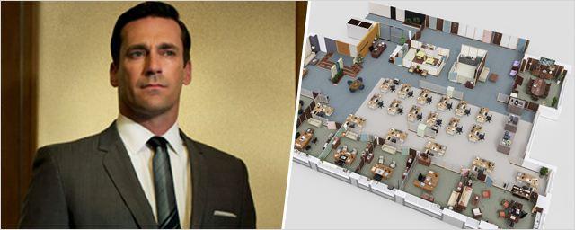 Mad Men, The Office... Découvrez les plans en 3D des bureaux de vos séries cultes !