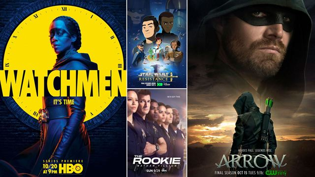 Les affiches séries de la semaine : Watchmen, Arrow et Star Wars Resistance
