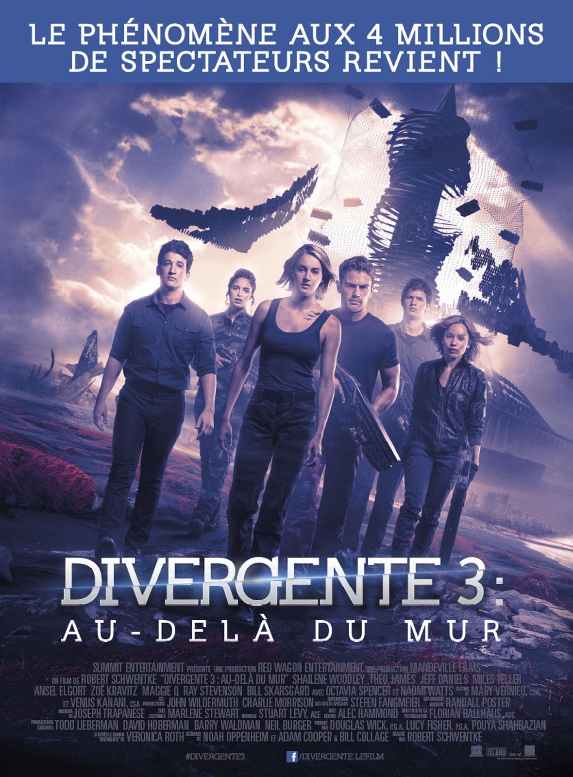 Divergente 3 : au-delà du mur ddl
