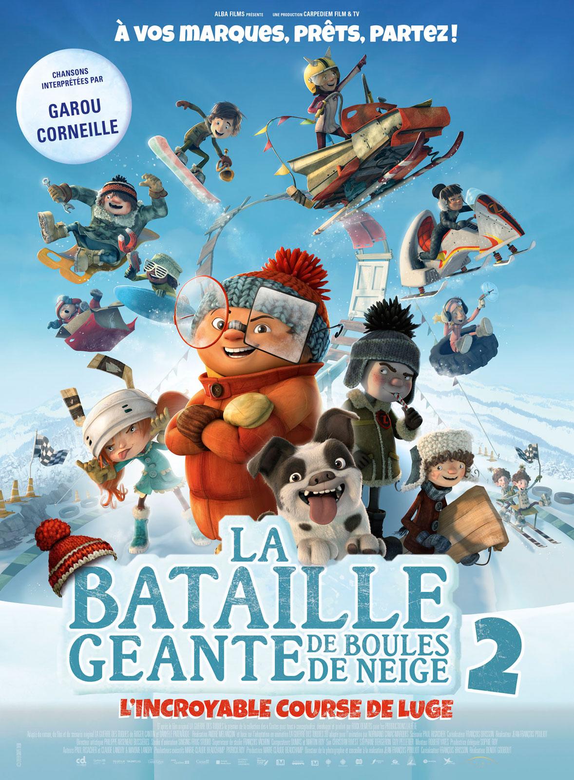 Affiche du film La Bataille géante de boules de neige 2, l'incroyable course de luge