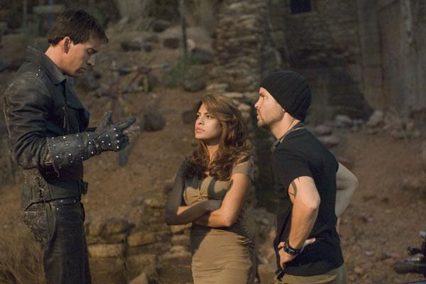 Nicolas Cage, Eva Mendes et le réalisateur Mark Steven Johnson