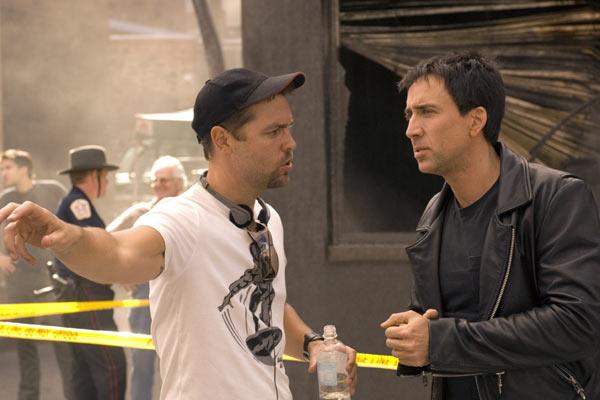Le réalisateur Mark Steven Johnson et Nicolas Cage