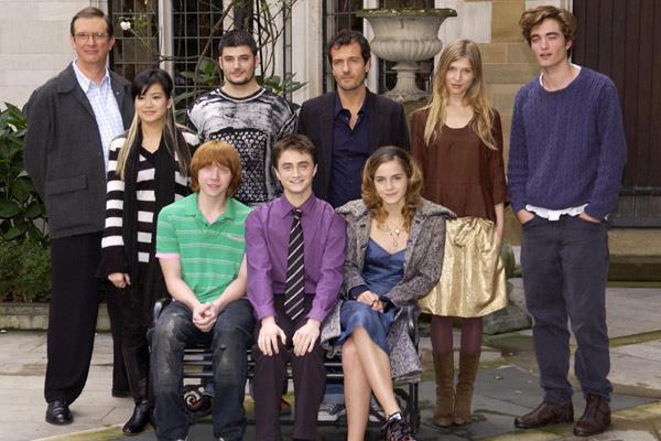 Harry Potter et la Coupe de Feu : Photo Clémence Poésy, Daniel Radcliffe, David Heyman, Emma Watson, Katie Leung