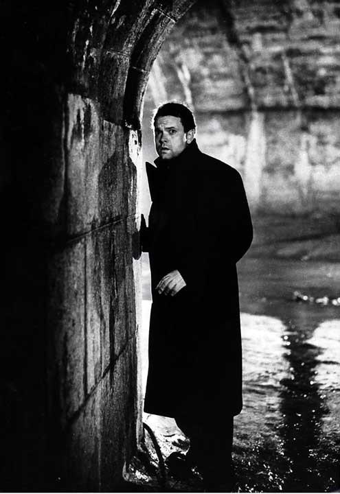 Le Troisième homme : Photo Carol Reed, Orson Welles