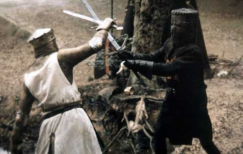 Monty Python, sacré Graal : Photo Graham Chapman, John Cleese, Terry Jones