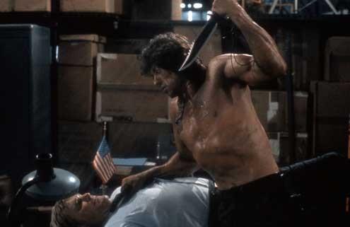 Rambo II : la mission : Photo Steven Berkoff, Sylvester Stallone