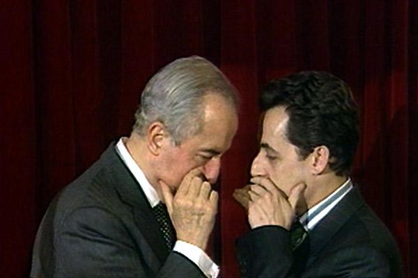 Dans la peau de Jacques Chirac : Photo Edouard Balladur, Karl Zéro, Michel Royer, Nicolas Sarkozy