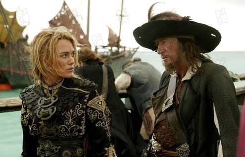 Pirates des Caraïbes : Jusqu'au Bout du Monde : Photo Geoffrey Rush, Keira Knightley