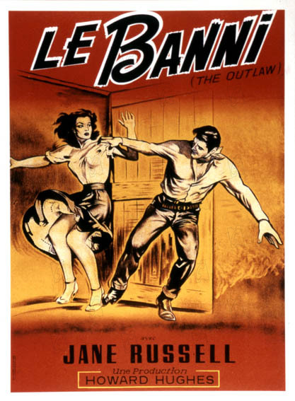 Le Banni : Affiche Howard Hughes, Jane Russell