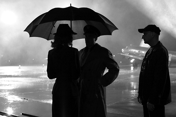 Cate Blanchett, George Clooney et Steven Soderbergh (sur le tournage)