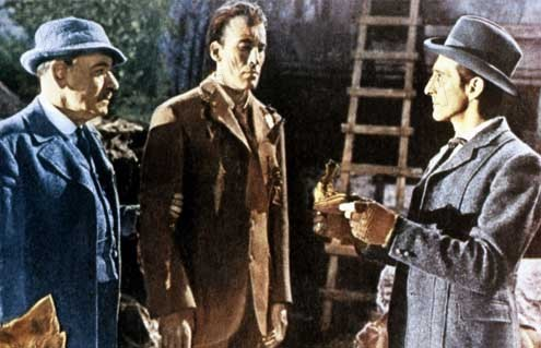 Le Chien des Baskerville : Photo André Morell, Christopher Lee, Peter Cushing, Terence Fisher