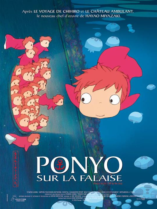 Affiche du film Ponyo sur la falaise - Affiche 3 sur 3 - AlloCiné