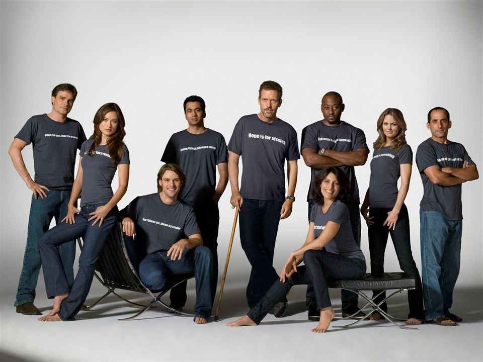 Dr House : Photo Hugh Laurie, Jennifer Morrison, Jesse Spencer, Kal Penn, Lisa Edelstein