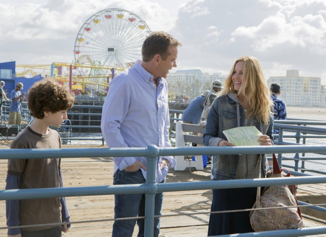 Photo David Mazouz, Kiefer Sutherland, Maria Bello