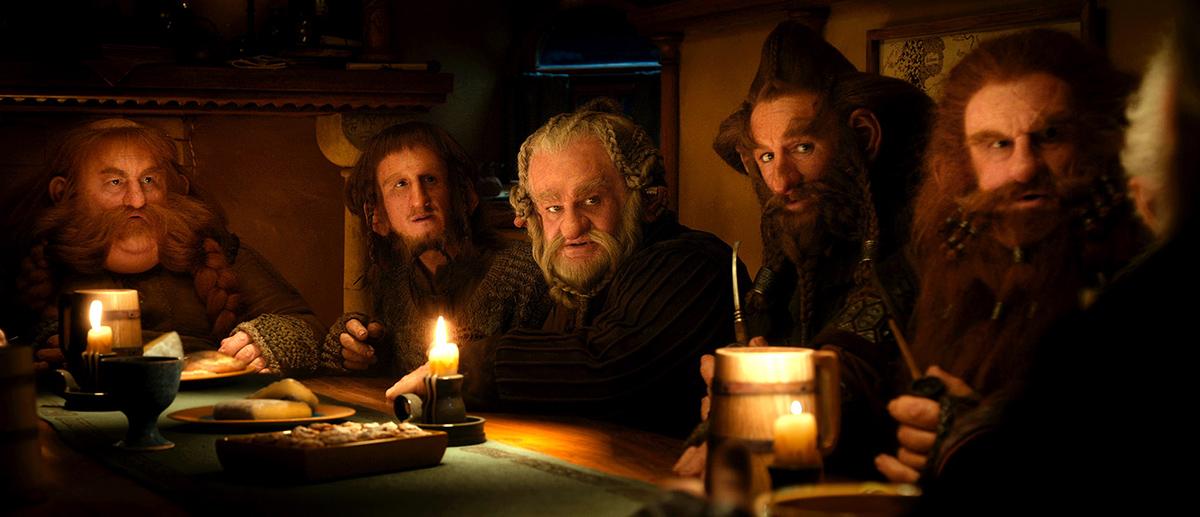 Le Hobbit : un voyage inattendu : Photo Adam Brown, Jed Brophy, Mark Hadlow, Peter Hambleton, Stephen Hunter