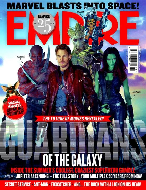 """Couverture d'Empire avec les """"gentils"""" des """"Gardiens de la Galaxie"""