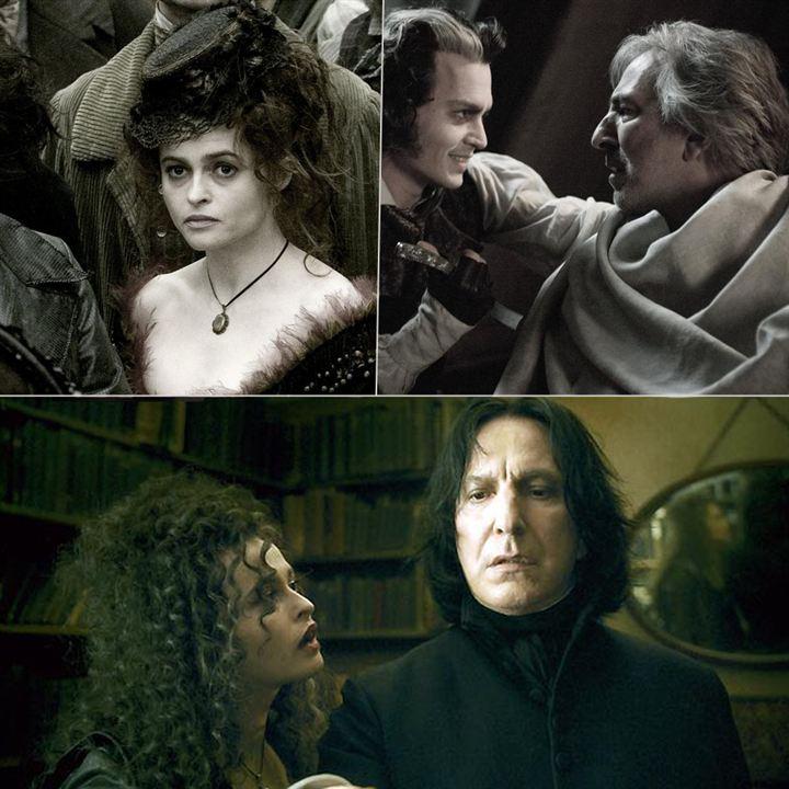 Helena Bonham Carter et Alan Rickman