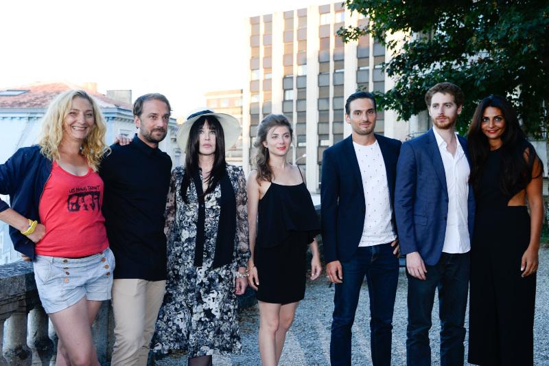 Isabelle Adjani et l'équipe de Carole Matthieu