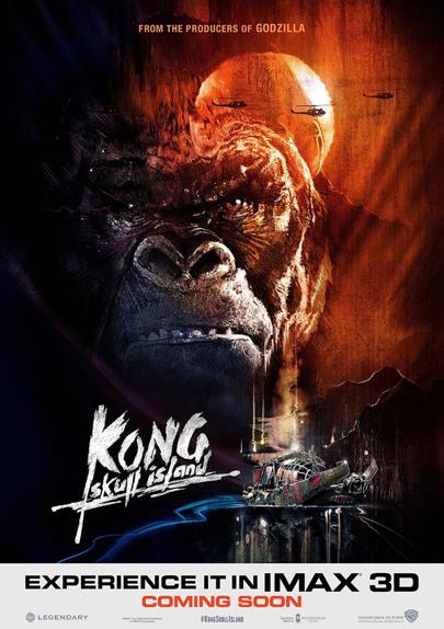 L'affiche IMAX de Kong : Skull Island