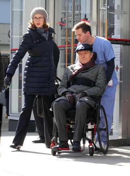 Nicole Kidman et Bryan Cranston sur le tournage du remake US d'Intouchables